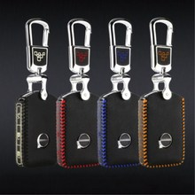 key case for volvo xc90 2017 s90L t5 t6 2015 2016 t8  leather car key cover  top layer leather s90 keys G2