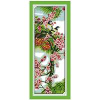 The Plum Blossom Pattern Counted Cross Stitch 11CT 14CT Cross Stitch Set Wholesale Flower Cross Stitch