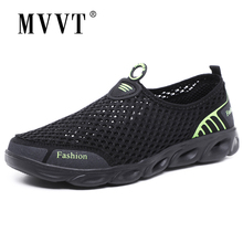 2017 Super light summer shoes men breathable mesh casual comfort fashion flats quality outdoor