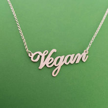 Jewelry Vegan  Symbol Silver Plated Necklace Vegan Lifestyle