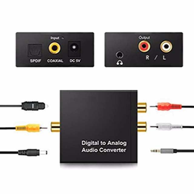 Цифровой аналоговый аудио усилитель конвертера декодер оптический волоконный коаксиальный сигнал в аналоговый стерео аудио адаптер 3,5 мм разъем 2 * RCA