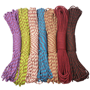 CAMPINGSKY Paracord 4mm 100ft 550 linka spadochronowa Paracord lina do wędrówek Camping tanie i dobre opinie 550 paracord paracord 550 4mm diameter 7 inner strands 100feet 220g 200colors Outdoor camping survival kit