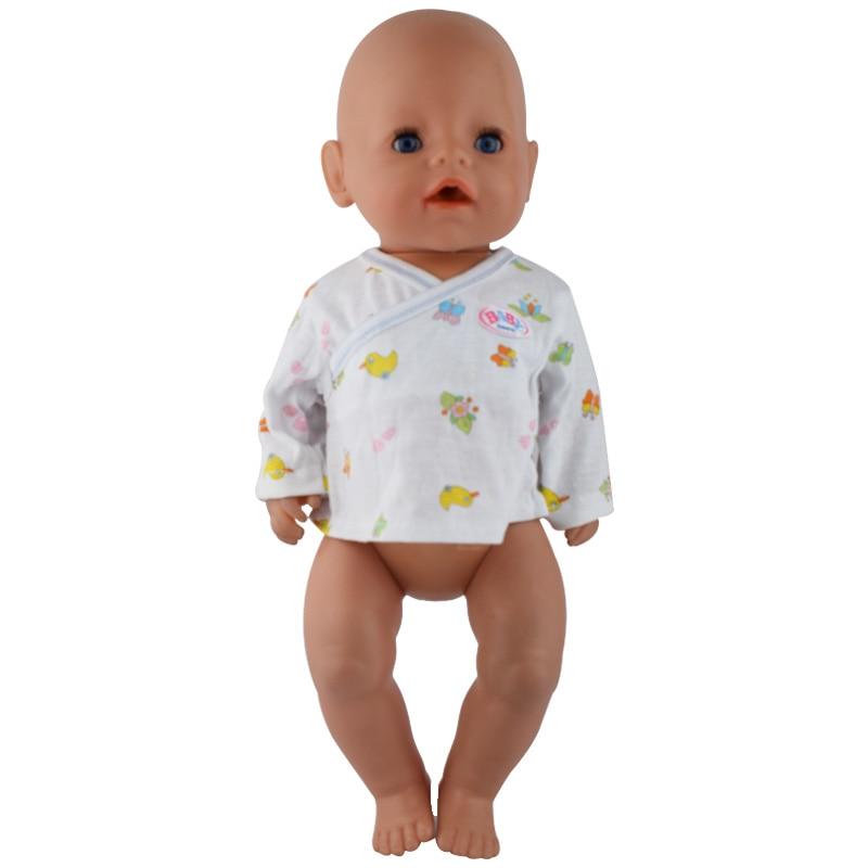 White Coat Doll Clothes Wear fit 43cm Baby Born zapf, Children best Birthday Gift