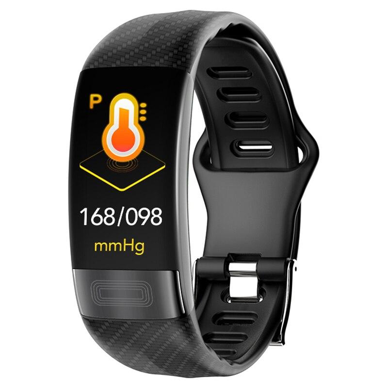 P11 Smartband tension artérielle bande intelligente moniteur de fréquence cardiaque PPG ECG Bracelet intelligent activité Fitness Tracker électronique Bracelet