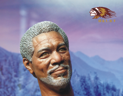 1:6 Action Figure Accessory 1/6 Shawshank Redemption Batman Technician Morgan Freeman Head Carving for 12 Figure Doll Toys 1 6th collectible figure doll se7en detective morgan freeman
