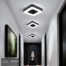 Диаметр 240 мм современный светодиодный Люстра для Холли проход коридор Спальня черный или белый квадратный/круглый/Треугольники светодиодный люстры