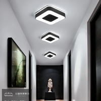 Diameter 240mm Modern LED Chandelier For Holly aisle corridor Bedroom Black or White Square/Round/Triangle led Chandelier