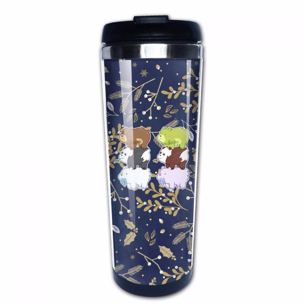 We Bare Bears Funny Coffee Mugs Stainless Steel Photo Travel Mug-Perfect Gift
