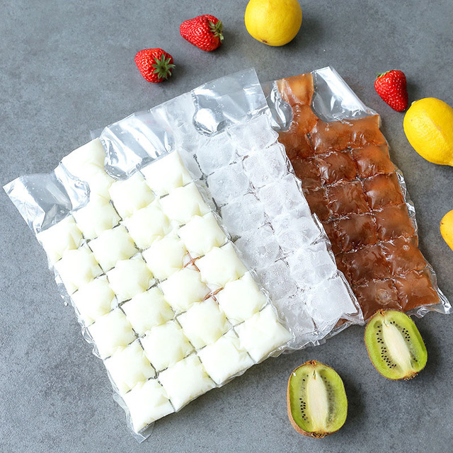 FEIGO 10pcs/pack Disposable Ice-Making Bags Popsicle Ice Cube Tray Mold 24 Ice Mould Summer DIY Drinking Tool Cooler Bags F728