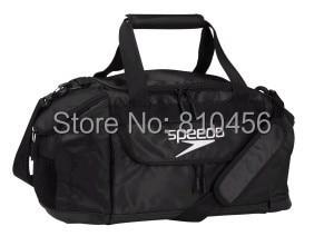 Free Shipping 2014 Speedo Gym Bag Swimming Nylon Shoulder Training Package Media Pocket Front