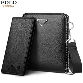 Викуньи поло бренд двойной карман Для мужчин сумка Курьерские сумки кожа Для мужчин сумка Бизнес сумка дорожная сумка для мужчин