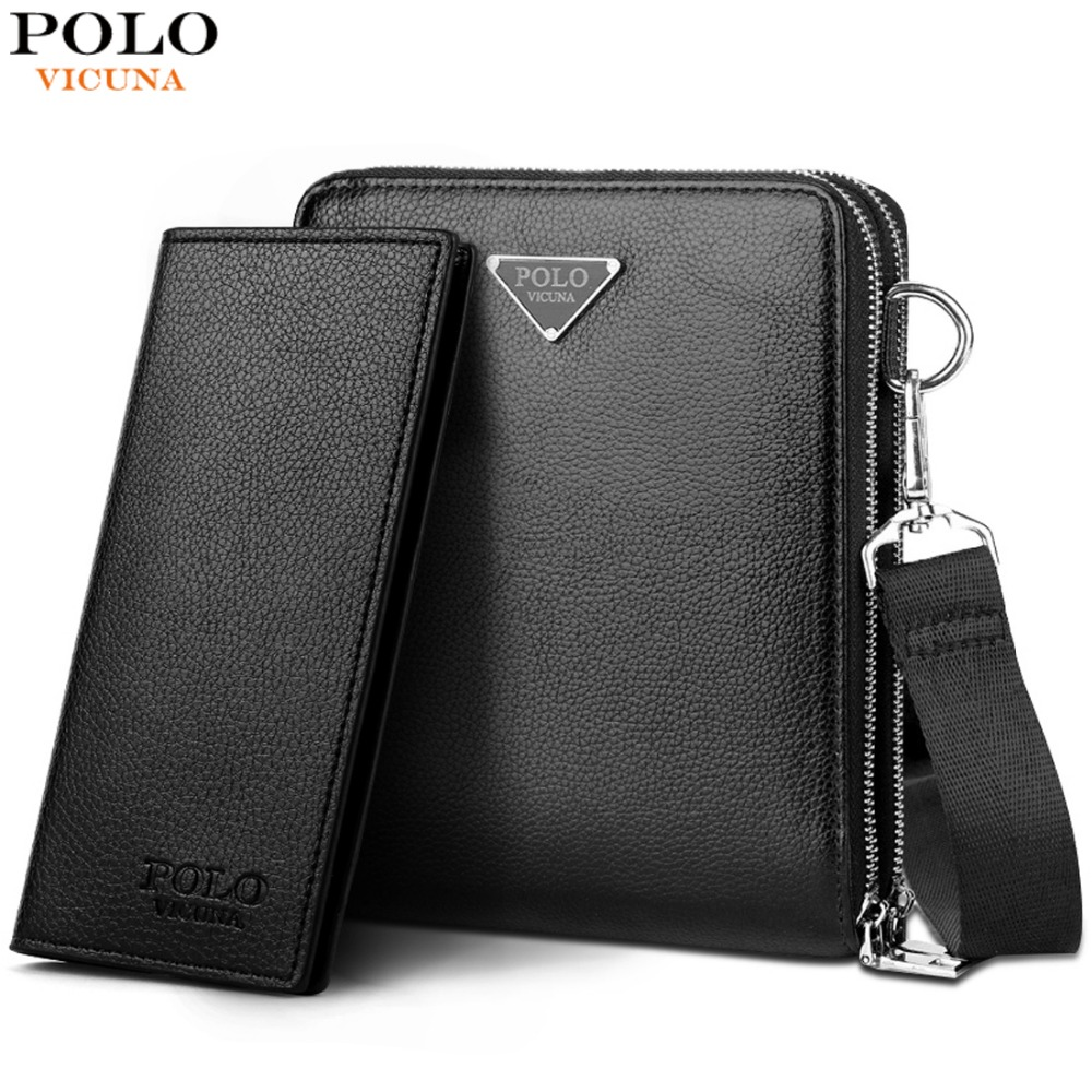VICUNA POLO Brand Double Pocket Men Bag Messenger Bags Leather Men Shoulder Bag Business Handbag Travel Crossbody Bag For MaleVICUNA POLO Brand Double Pocket Men Bag Messenger Bags Leather Men Shoulder Bag Business Handbag Travel Crossbody Bag For Male