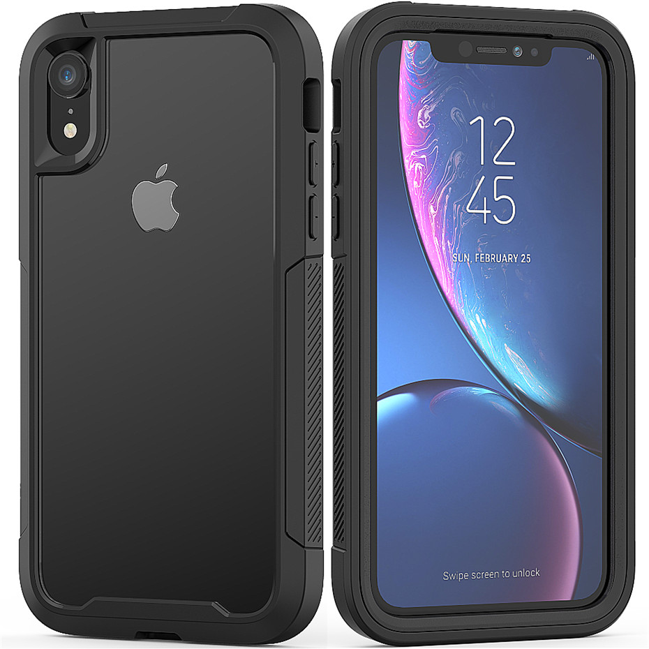Transparent Anti-Scratch Protective Case For iPhone 11 Pro Max 6 6s 7 8 Plus X XS Max XR Hard PC+ TPU Bumper Dual Layer Cover