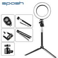 spash 8 inch Mini LED Ring Light Portable Video Light for Youtube Photo Shooting 64 SMD LED Annular Lamp 3200K/5500K CRI90