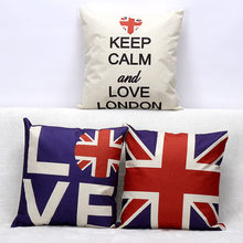 ae36767ca Estilo britânico Union Jack Flag UK London Amor Capa de Almofada Guarda  Real Sapatos De Salto