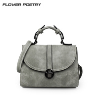 FLOWER POETRY Retro Style Shoulder Bag Women Messenger Bag Lock Cover Bag Crossbody Bag Female Bolsas