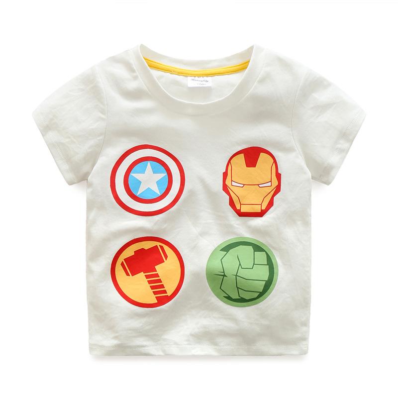 Summer Boys T-Shirts Cotton Kids Top Iron Man Short Sleeve Children Clothes O Neck Captain America Boy T-Shirt 2017 Boy Clothing (4)