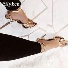 Eilyken 2020New Sexy Buckle Strap Women Sandals Serpentine Pointed Toe Thin Heel