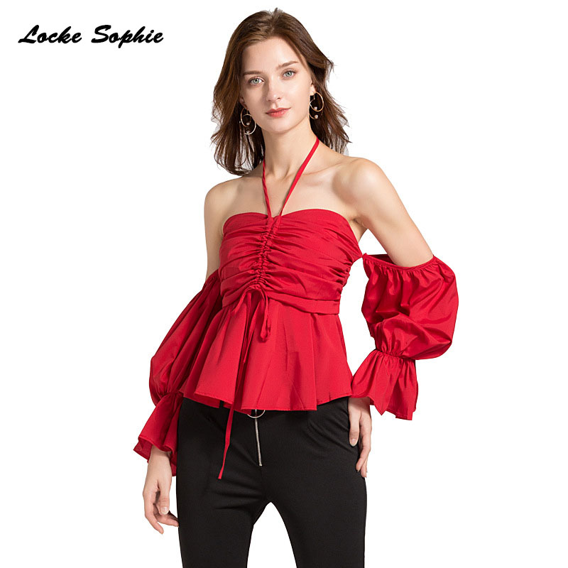 1pcs Ladies Plus size blouses tops 2019 Summer cotton blend Splicing halter irregular Primer shirts women 39 s Skinny Sexy blouses in Blouses amp Shirts from Women 39 s Clothing