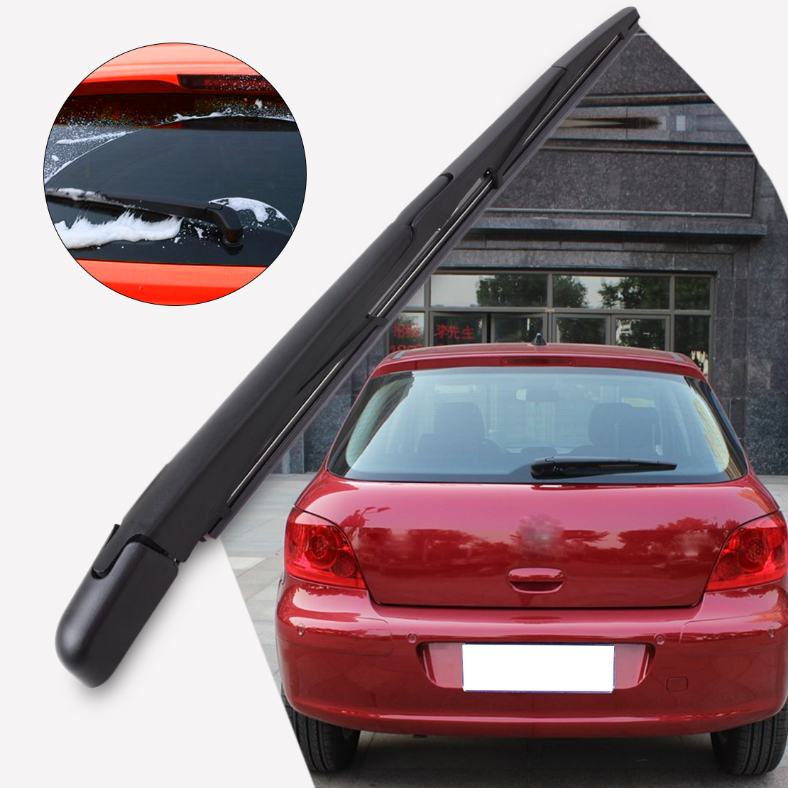 CITALL Rear Window Windscreen Windshield Rubber Wiper Arm + Wiper Blade For Peugeot 307 SW/ESTATE 2002- 2004 2005 2006 2007 2008