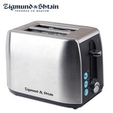 Zigmund& Shtain Тостер ST-85, 900 Вт, прочный стальной корпус, 3 режима работы, 7 регулировок степени поджаривания, автоматическое центрирование тостов, отсек для хранения сетевого шнура, прорезиненные ножки