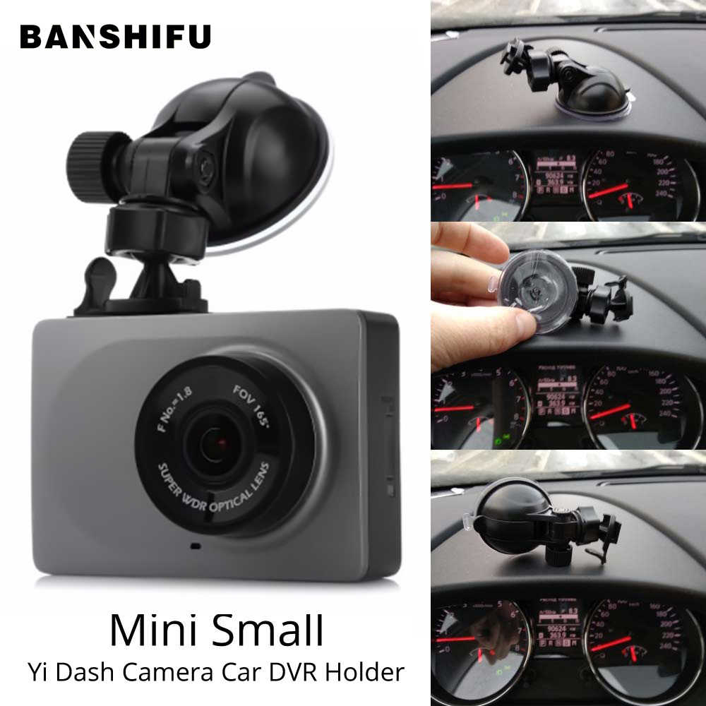 Dash Cam Mirror Mount For original Xiaomi YI Car DVR Holder Bracket Genuine Sucker for Yi Dash Cam Suction cup holder