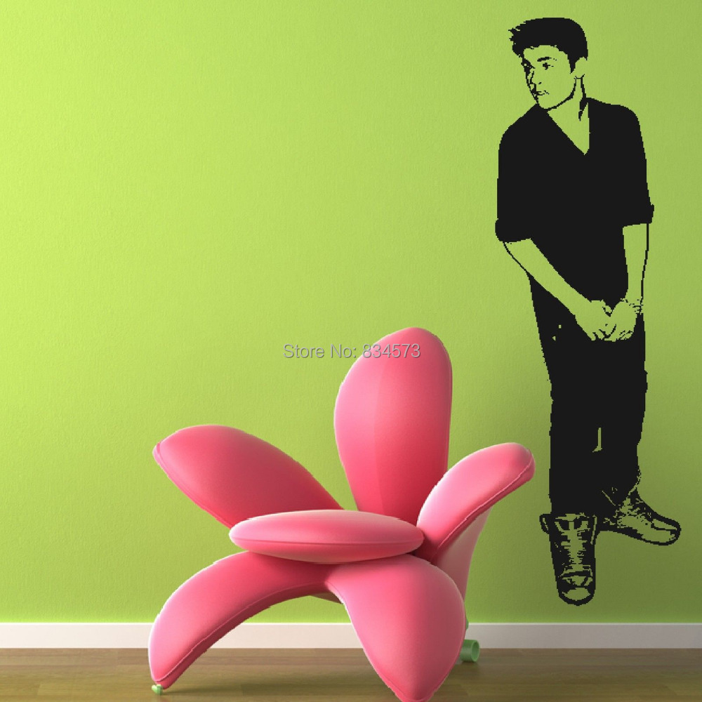 Justin bieber celebrity silhouette wall art stickers decal home justin bieber celebrity silhouette wall art stickers decal home diy decoration wall mural removable bedroom decor wall stickers in wall stickers from home amipublicfo Image collections
