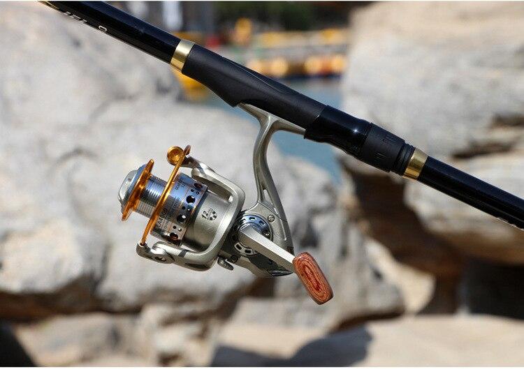 telescópica olta mão varas dupla utilização peixe pesca equipamento