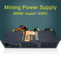 Mining Case Eth DASH Miners ZCASH Power Supply 2600W Supports 8 12 GPU CARDS 180V To