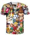 Totally 2000's T-Shirt Jimmy Neutron Spongebob Danny Phantom Chalk Zone cartoon character 3d Print t shirt Women's tees tshirts