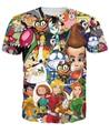 Totalmente se escandaliza Camiseta Jimmy Neutron Spongebob Danny Phantom Tiza Zona de personaje de dibujos animados 3d de Impresión t camisa de Las Mujeres camisetas camisetas