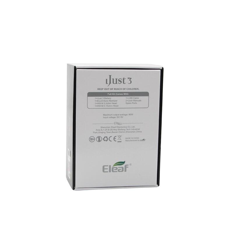 Image 5 - New Electronic Cigarette Eleaf iJust 3 Kit 3000mah Battery i Just  3 Vape 6.5ml ELLO Duro Atomizer Tank with HW N Coil VS Ijust  SElectronic Cigarette Kits