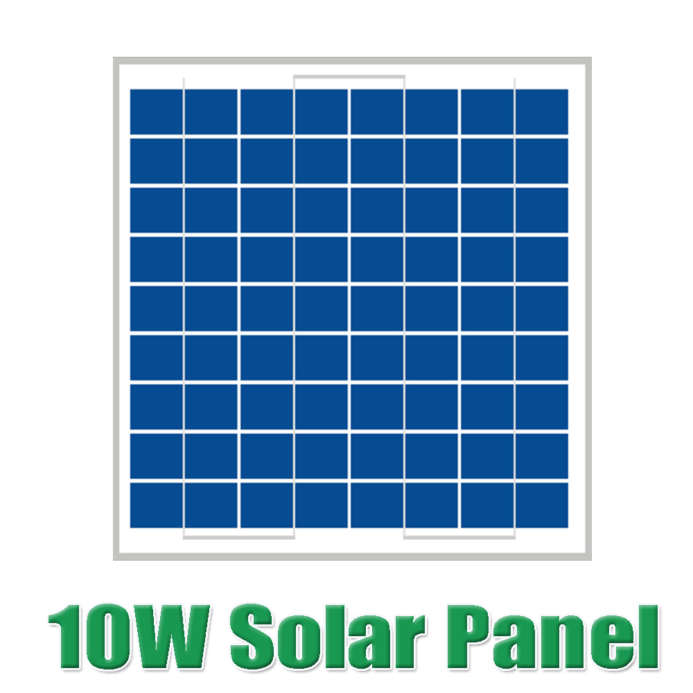 Hot Sale 10W 18V Polycrystalline silicon Solar Panel used for 12V PV solar cell module photovoltaic power home system 10Watt WY