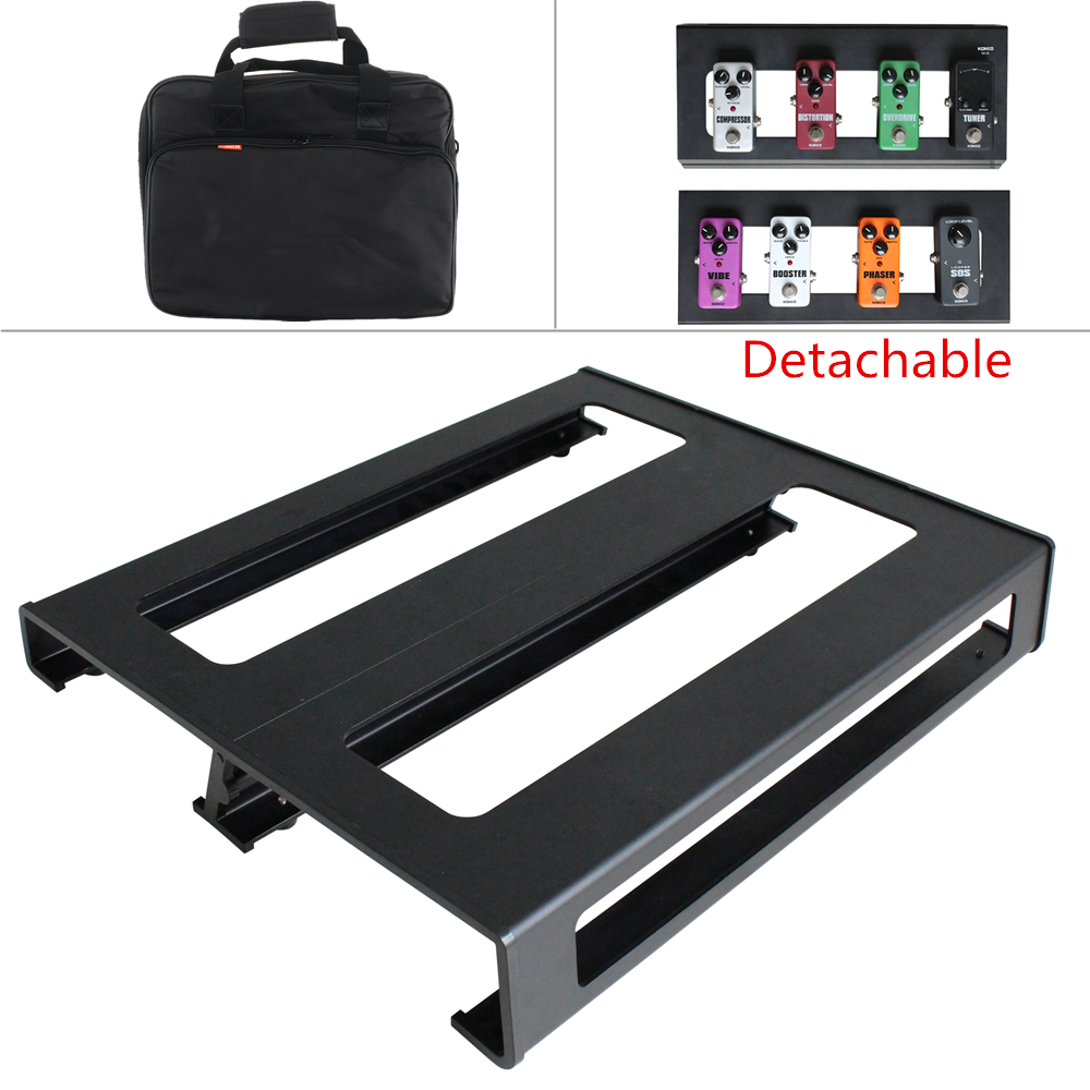KOKKO Durable Amovible 37x30 cm Guitare Pedal Board Configuration Style DIY Guitare Effet Pédalier avec Sac