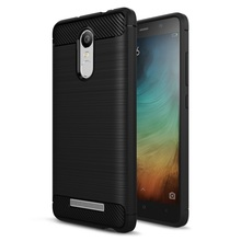 for Xiaomi Redmi Note 3 TPU Cover Bag Carbon Fibre Brushed TPU Phone Case for Xiaomi Redmi Note 3 / Note 3 Pro – Black