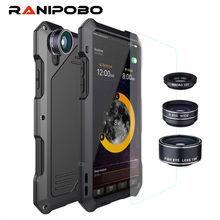 3-слойный Гибридный ударопрочные Чехлы для телефона для мобильного телефона iPhone 7 6 6S Plus 8 Plus X полный защитный чехол с 3 в 1 15X макрообъектив + стекло
