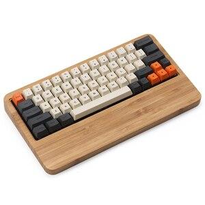 Carbon 64 Layout Dye-sub Keycaps profil OEM to 1.75 Shift Fit GK64 gry mechaniczne 60% klawiatura Teclado Mecanico Gamer
