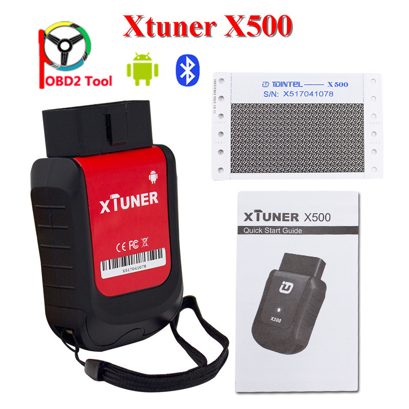 Xttuner X500 Bluetooth Android Universal OBD2 Car Diagnostic Tool for Engine ABS BatteryDPF EPB Oil font