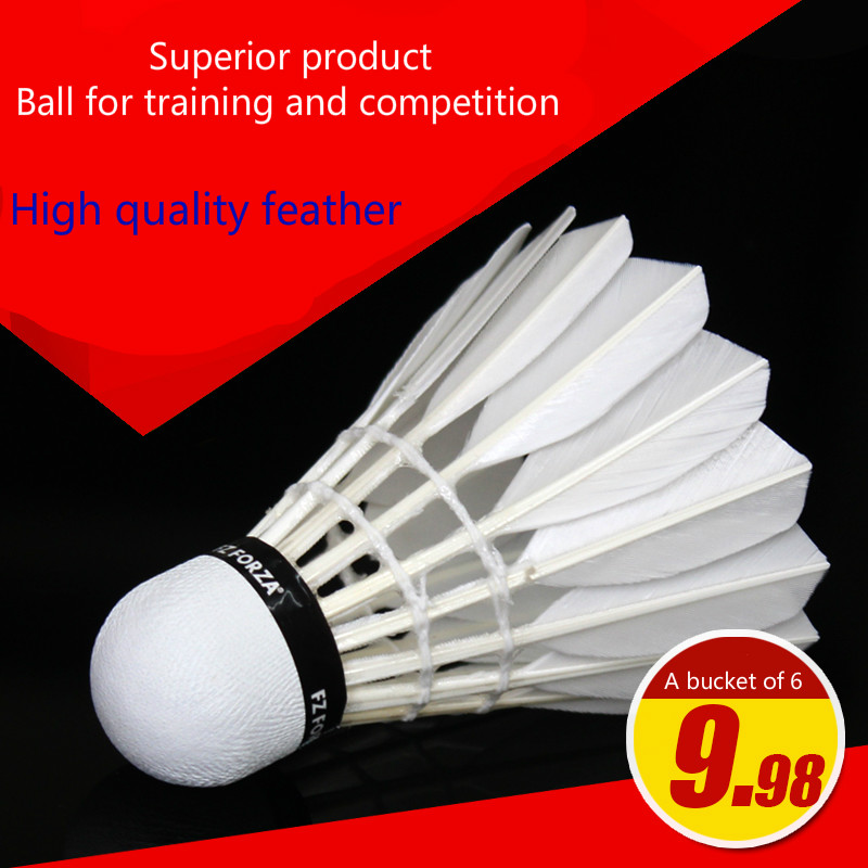 High quality training in feather badminton A bucket of 6 piece indoor and outdoor exercise game shuttlecock Feather ball