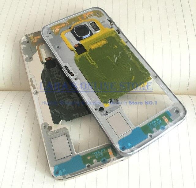 Первоначально для Samsung Galaxy S6 край G925 ближний стальной конструкции корпуса шасси рамка + боковая кнопка + объектива камеры + NFC