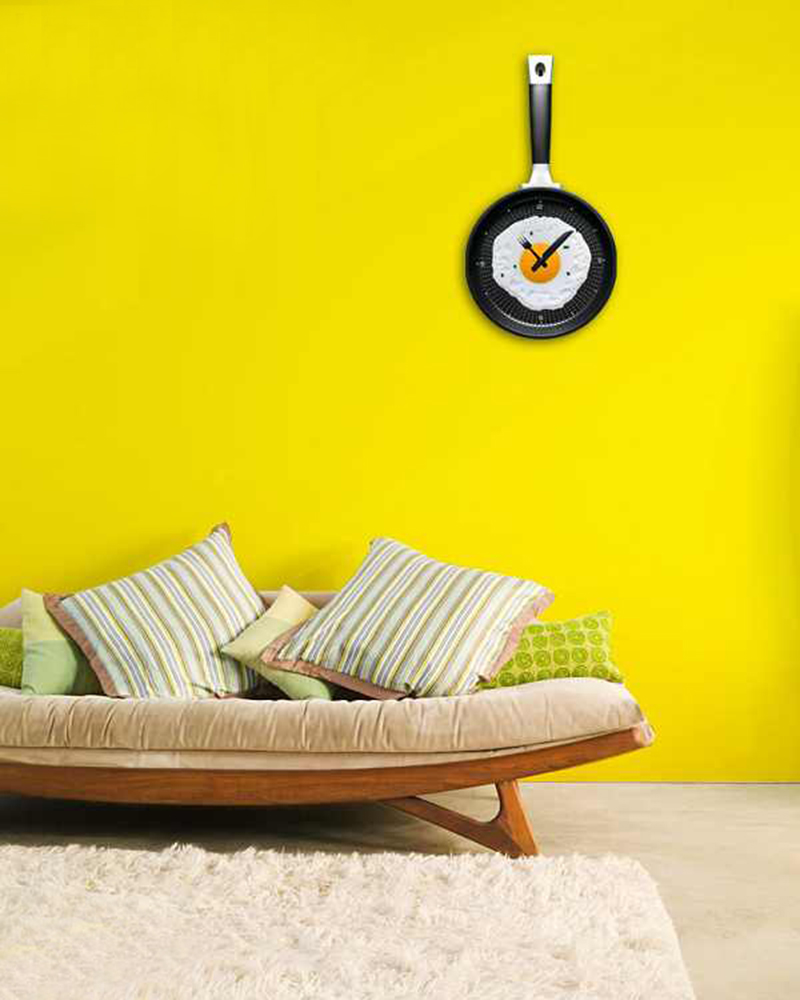 Home Decoration Wall Clock Creative Omelette Fry Pan Fried Egg Wall ...