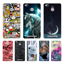 цена на Phone Cases For Xiaomi Redmi 3 Pro 3s Redmi 3s Cover 3D Silicon Phone Back Cover for Xiaomi Redmi 3 Pro Case Redmi 3 S Pro Case