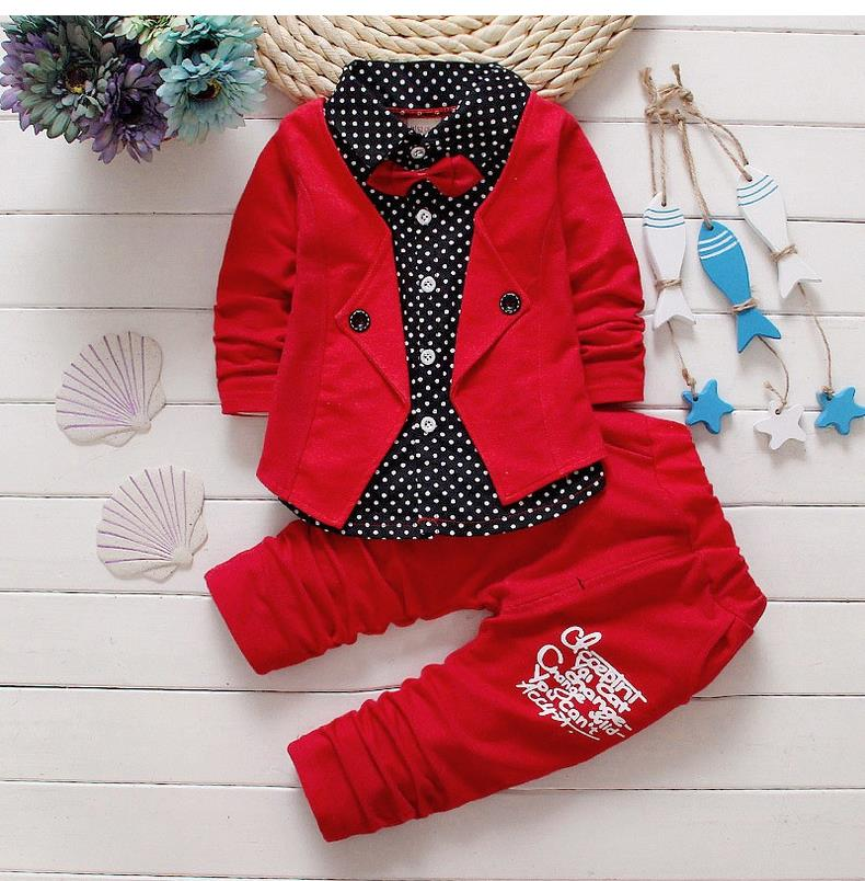Baby Clothes Kids Boys Clothes Set Spring Striped Toddler Boys Clothing Sets Suits For Boys 2016