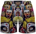 HOT HIP HOP Vogue 3D printed Funny comic men pants Boardshorts Breathable summer Beach short trousers Bodybuilders shorts homme
