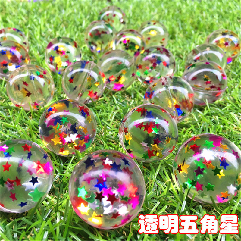 20pcs/30pcs/50pcs/80pcs/100pcs Funny Toy 32MM Bouncing Star Color Bouncy Ball Child Rubber Ball Of Bouncy Toy