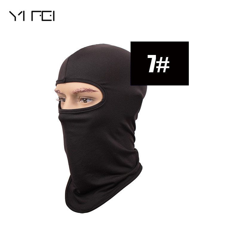 YIFE Windproof Mask Quick-Drying Breathable Anti UV Soft Face Mask Motorcycle CS Tactics New Tactics Balaclava Hat outdoor airsoft adults cs field game skeleton warrior skull paintball mask