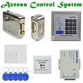 DIYSECUR полный комплект 125 кГц RFID Клавиатура система контроля доступа комплект безопасности + Электрический замок + кнопка выхода KD2000