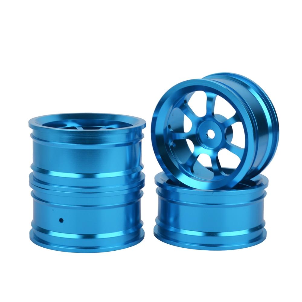 1/10 On-Road Drift Car 52MM Aluminum Alloy Wheel Rims for HSP HPI Kyosho Sakura 1:10 Racing 4pcs aluminum alloy 52 26mm tire hub wheel rim for 1 10 rc on road run flat car hsp hpi traxxas tamiya kyosho 1 10 drift parts