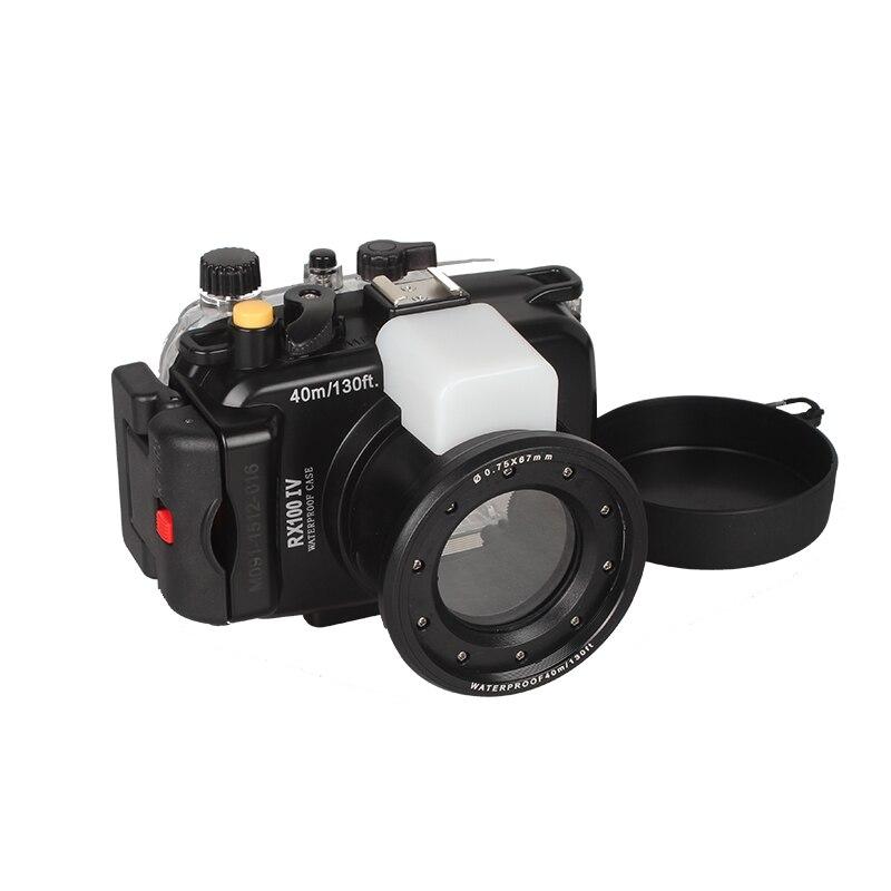 In Stock !Meikon waterproof underwater waterproof camera housing case for Sony RX100-IV DSC-RX100 IV RX100IV Mark IV M4 Mark 4 sony dsc rx100 iv black