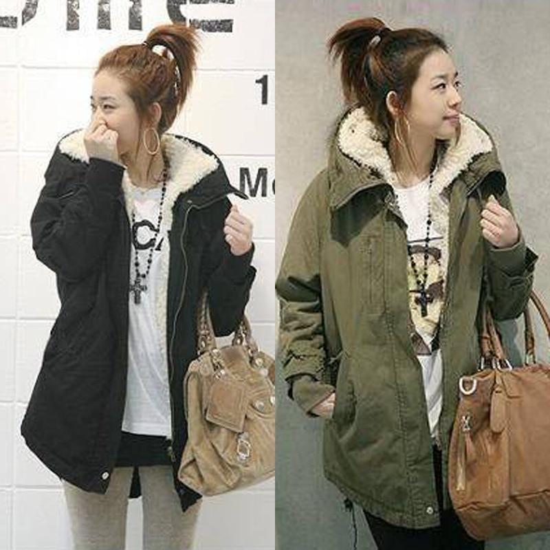 New Winter Hooded Women   Parkas   Coats With Fur Female Adjustable Waist Long Outwear Plus Size 5XL Casual Warm Jackets Coats Femme